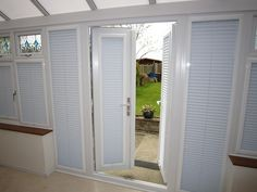 Louvolite Pleated Blind in Conservatory